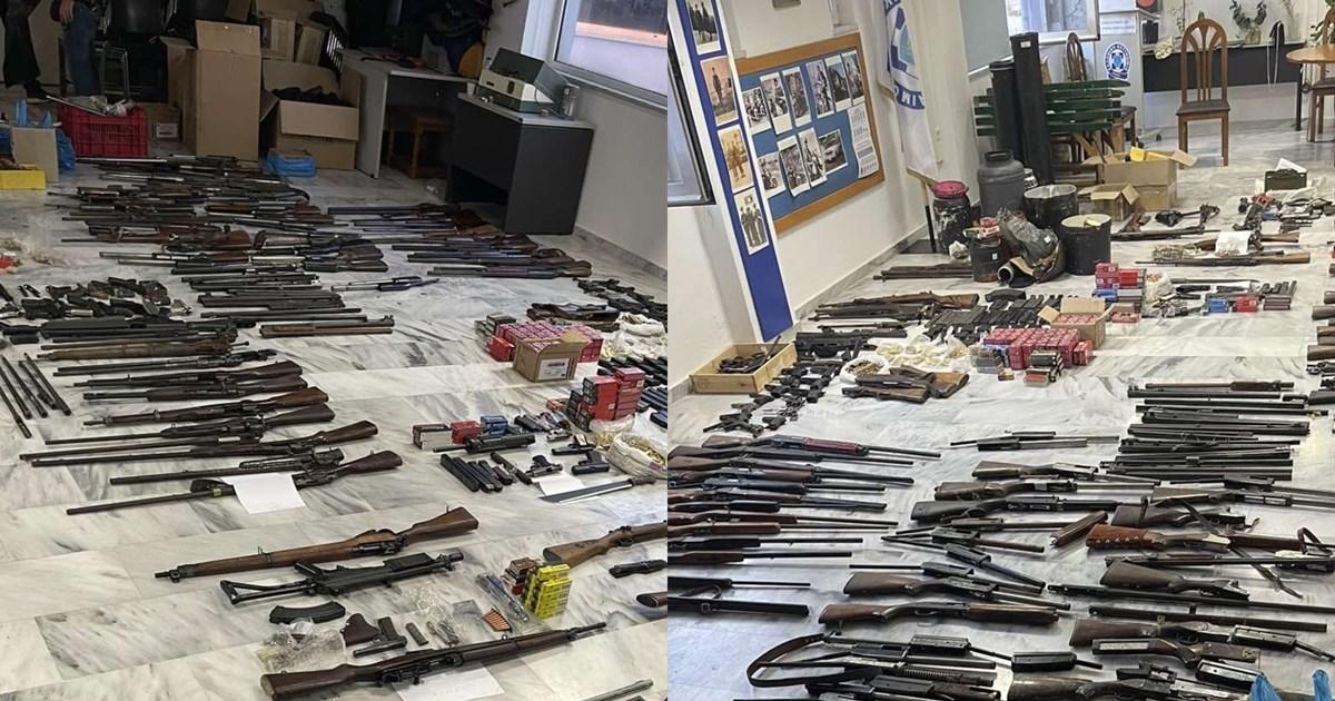 Λαθρεμπόριο όπλων στα Χανιά: Ολόκληρο οπλοστάσιο βρήκαν οι Αρχές - 7 συλλήψεις [εικόνες]