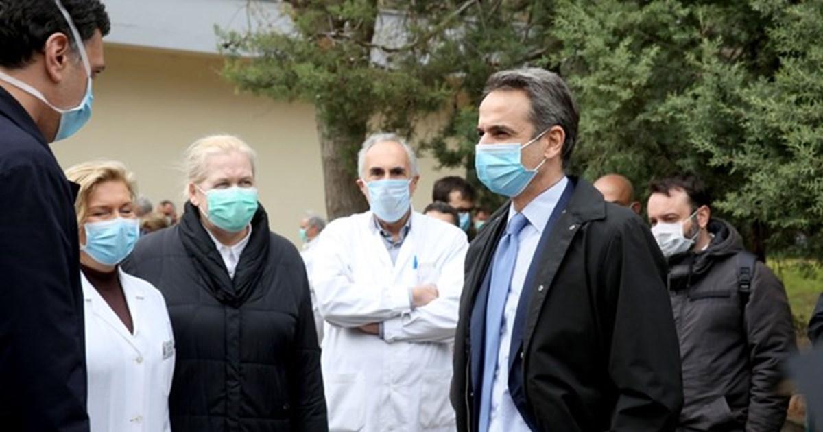 Επίσκεψη Μητσοτάκη στο Νοσοκομείο 'Σωτηρία'