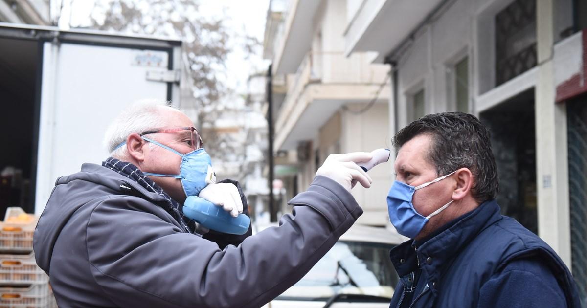 Κάνουν θερμομέτρηση στις λαϊκές αγορές της Θεσσαλονίκης λόγω κορονοϊού [εικόνες]