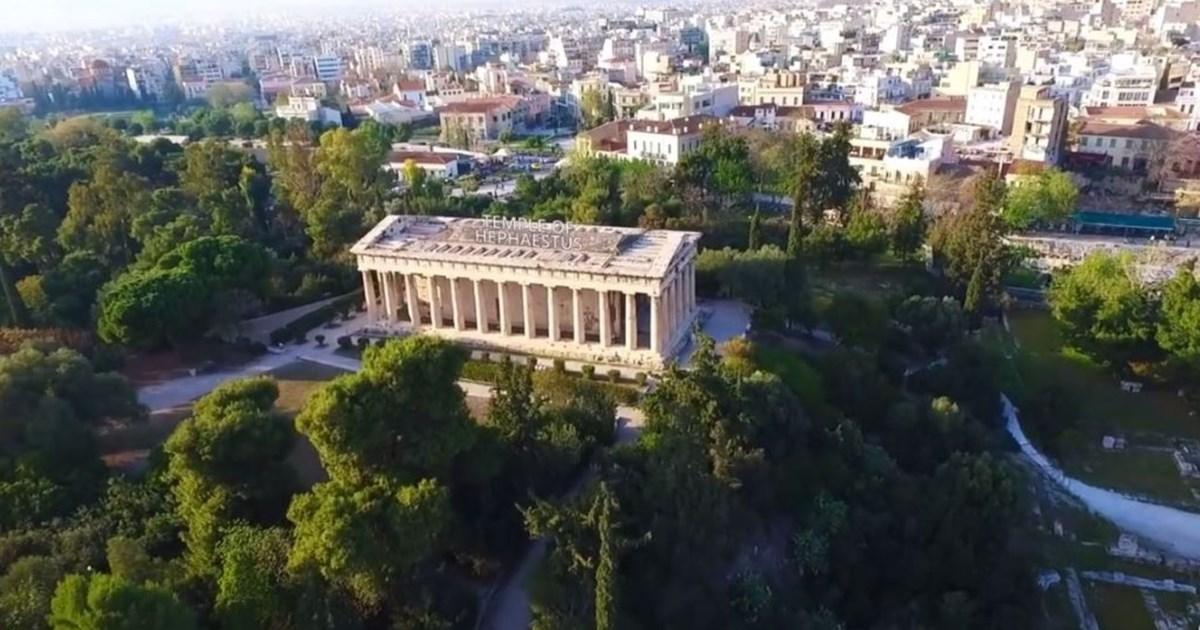 Απολαυστική ξενάγηση με drone στην Αρχαία Αγορά   New Life Ειδήσεις