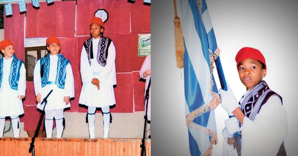 Ο Γιάννης Αντετοκούνμπο τσολιαδάκι με την ελληνική σημαία ...